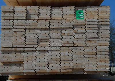 1- Lames de plancher en pin