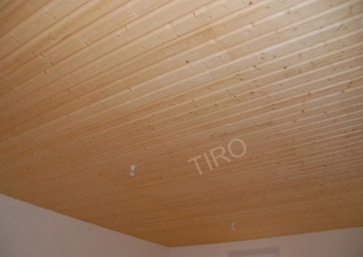 1- Plafond clins sapin brut de sciage