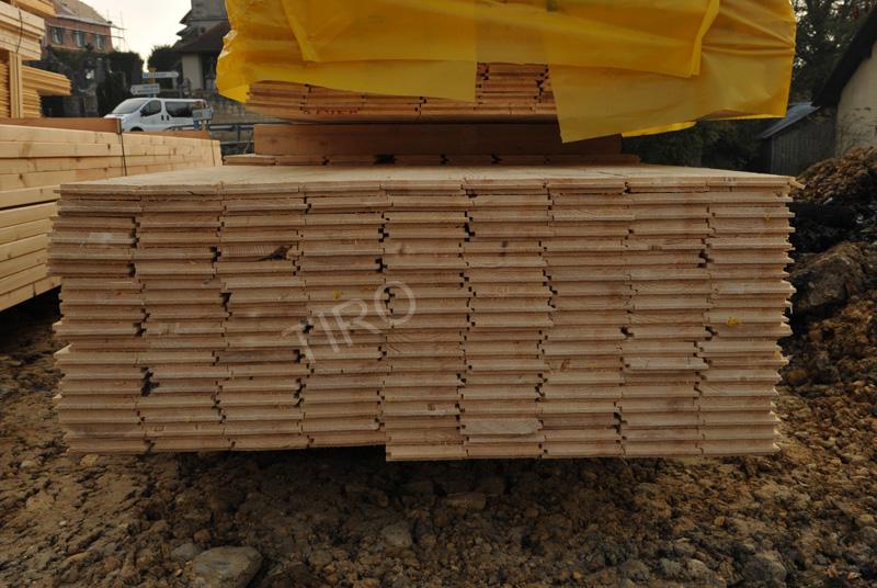 Plancher du grenier d u2019une maison ossature bois Maisons ossature bois en kit TIRO # Plancher Maison Ossature Bois