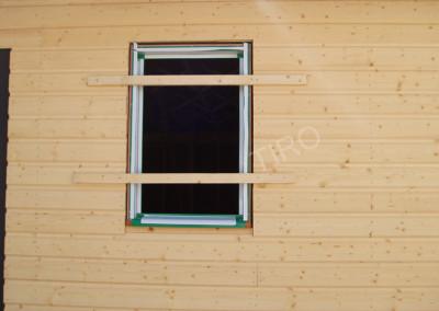 1- Pose des fenêtres au ras du bardage