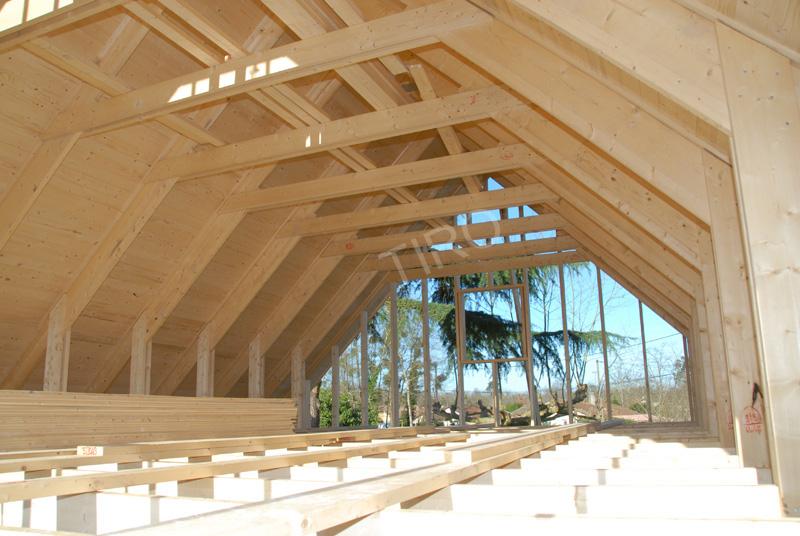 Arbal triers de fermettes 45 d une maison ossature bois maisons ossature - Prix d une maison ossature bois ...