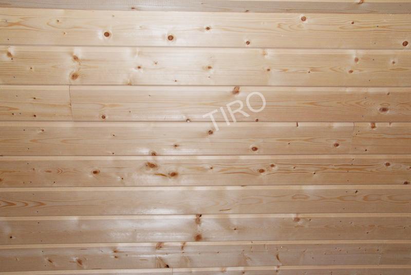 Clins en sapin rabot maisons ossature bois en kit tiro for Plafond ossature bois