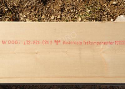 3- Bois 45x220 mm c24 estampillé