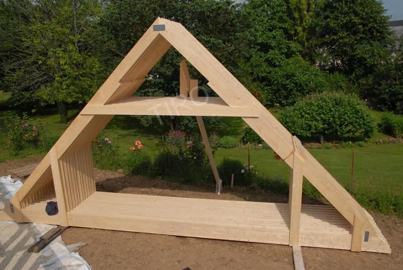 Fermettes 45 d une maison ossature bois maisons ossature bois en kit tiro - Prix d une maison ossature bois ...