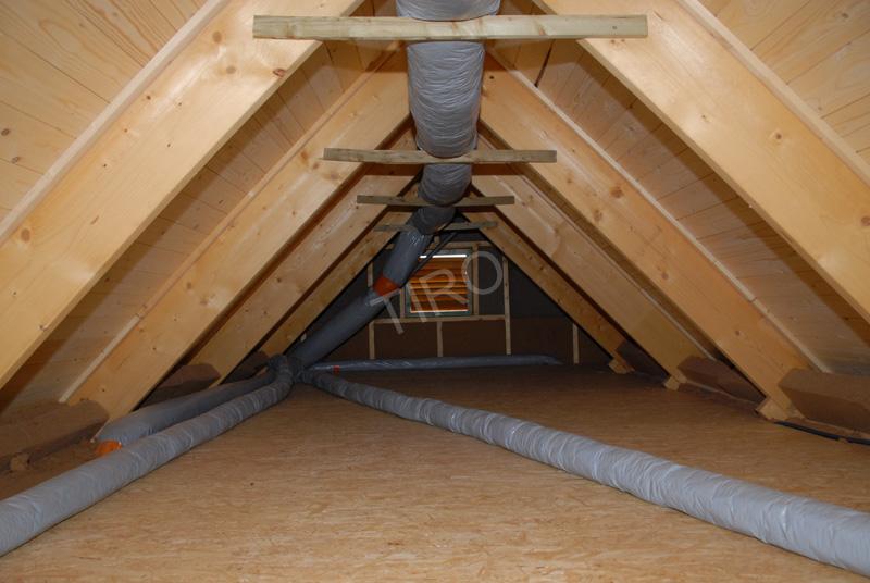 Plancher du grenier d u2019une maison ossature bois Maisons ossature bois en kit TIRO # Bois Pour Ossature Bois