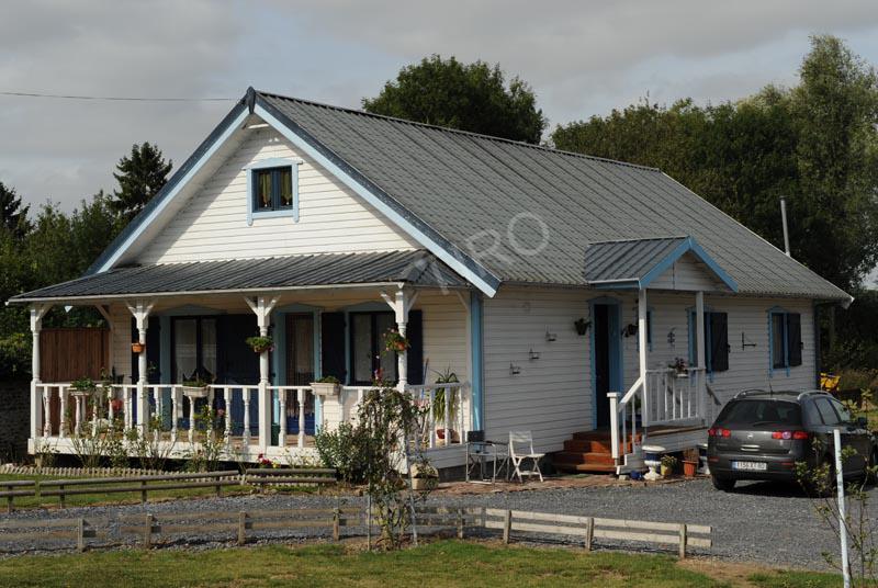1 maison tiro plain pied maisons ossature bois en kit tiro for Maison bois plain pied