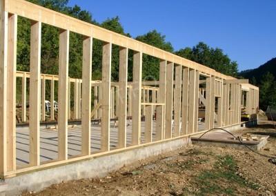 4- Montants murs ossature bois