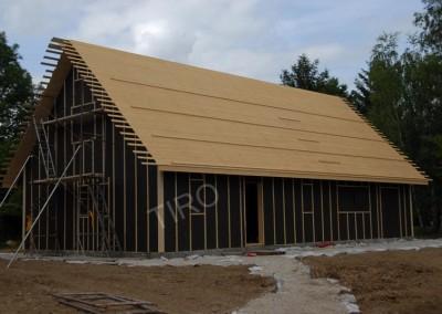 5- Platelage maison ossature bois avec combles