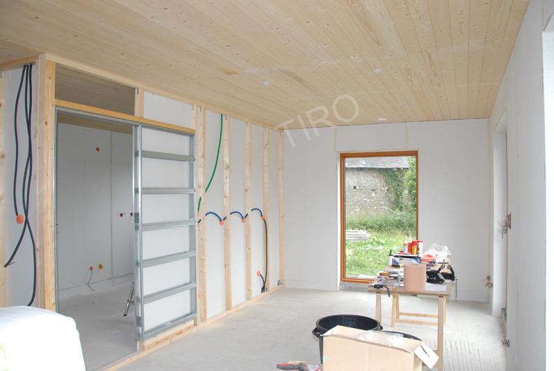 cloisons en ossature bois maisons ossature bois en kit tiro. Black Bedroom Furniture Sets. Home Design Ideas