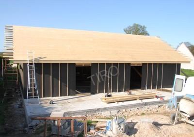 6- Platelage maison ossature bois plain pied