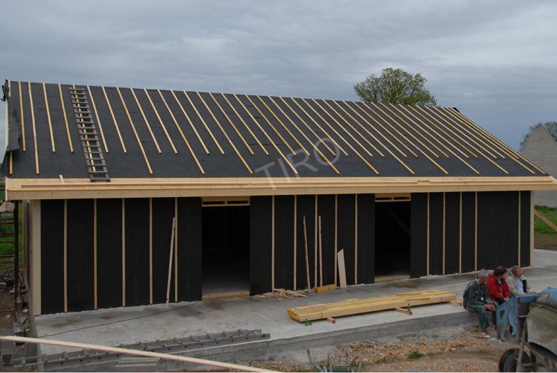 Sous-toiture feutre bitumé maison ossature bois - Maisons ossature bois en kit- TIRO