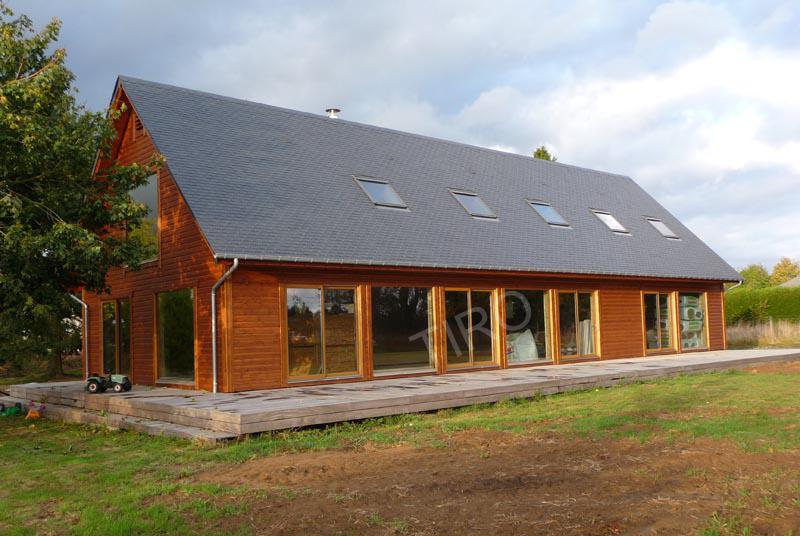 maison en bois en kit tiro
