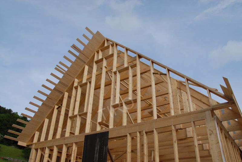 pignons comme murs 45 d une maison ossature bois maisons ossature bois en kit tiro. Black Bedroom Furniture Sets. Home Design Ideas