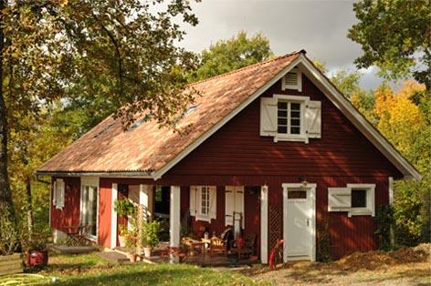 Exterieur d'une maison ossature bois - TIRO