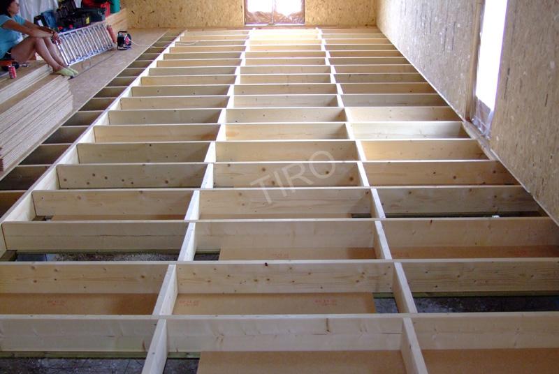 Solivage bois Maisons ossature bois en kit TIRO # Solivage Plancher Bois