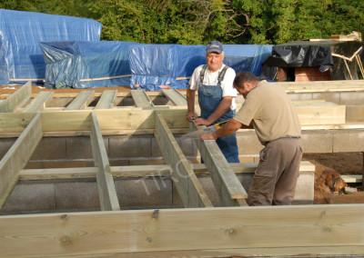 2- Solivage bois avec murs de refend