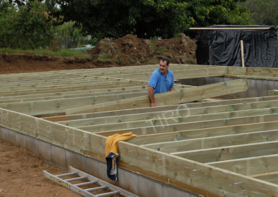 4- Solivage bois avec murs de refend