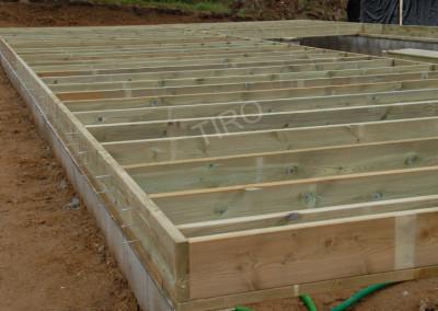 5- Solivage bois avec murs de refend